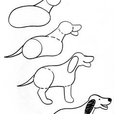236x236 Dog Clipart Easy To Draw