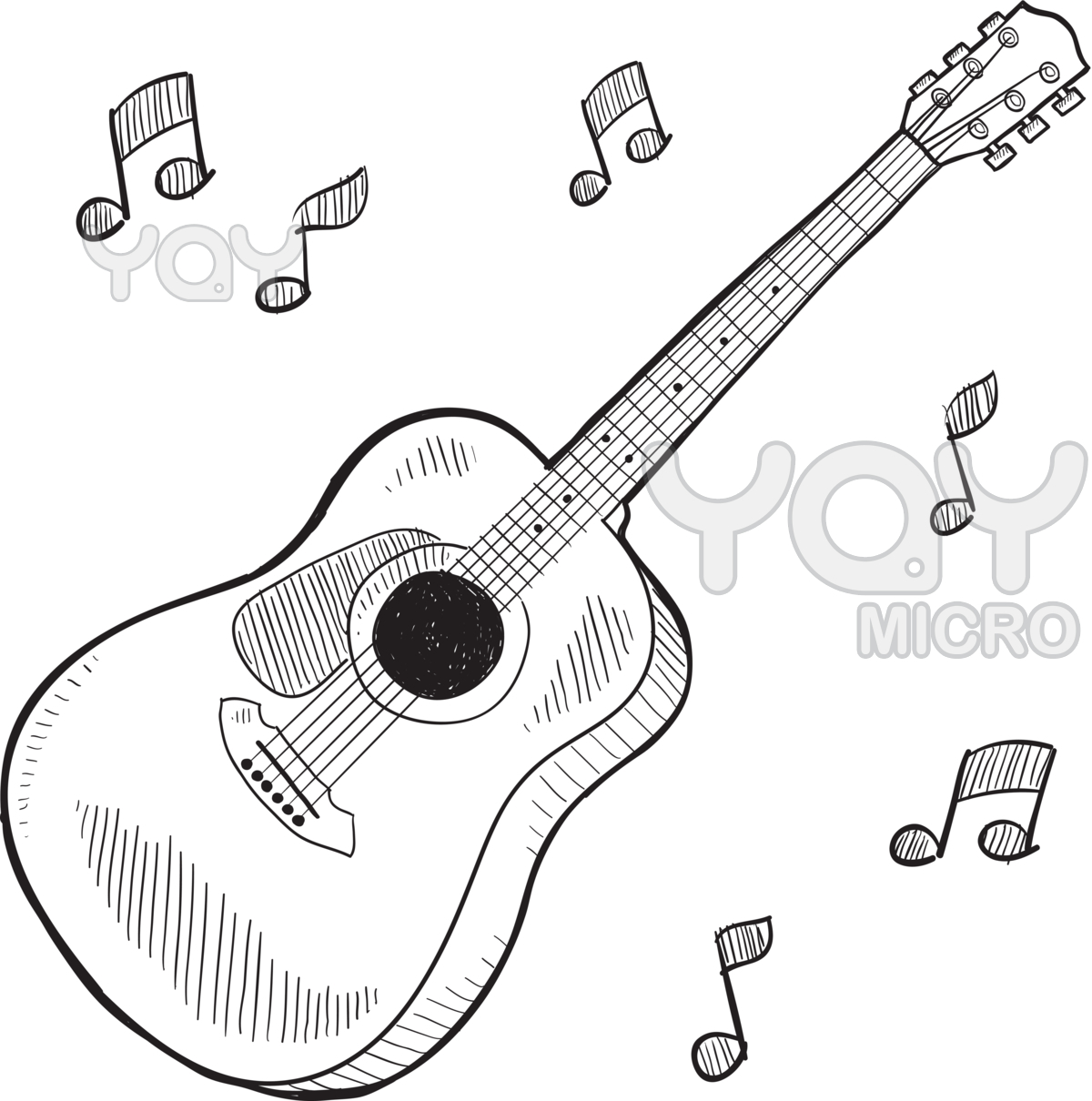 Easy Drawing Of Guitar at GetDrawings.com | Free for personal use ...