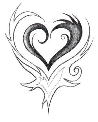 320x400 Heart Drawings