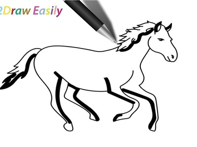 Easy Drawing Of Horse At Getdrawings Com Free For Personal Use
