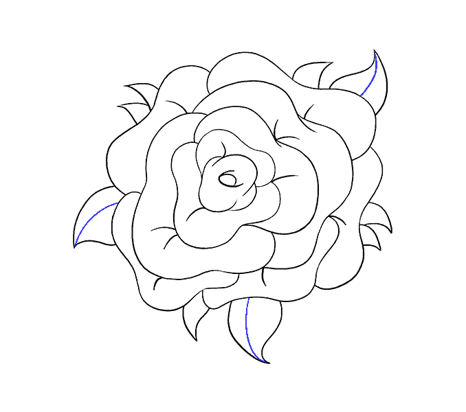 Easy Drawing Of Roses At Getdrawings Com Free For Personal Use
