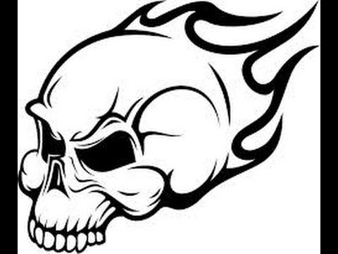 480x360 How To Draw A Flaming Skull