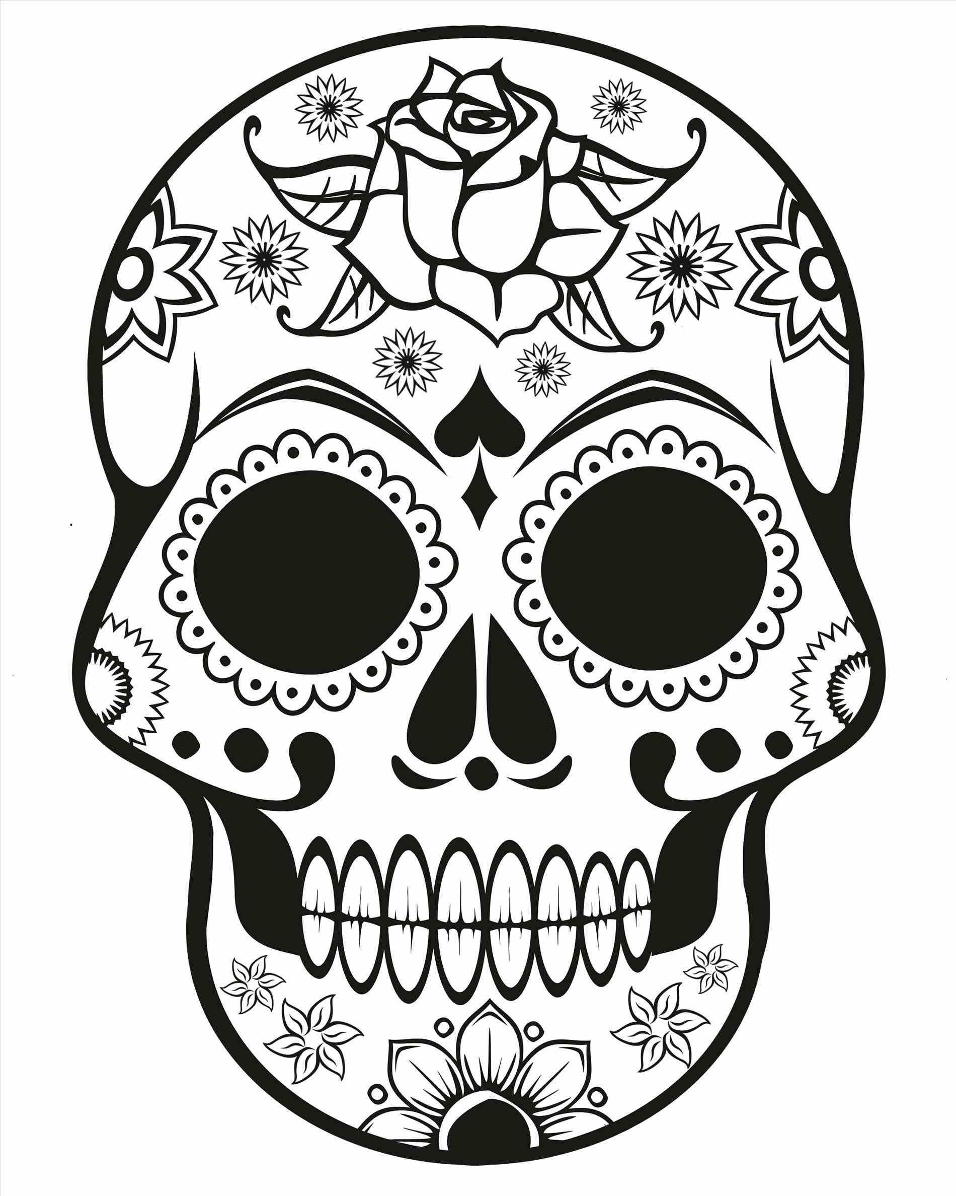 1900x2375 Sugar Skull Drawings Step By Step