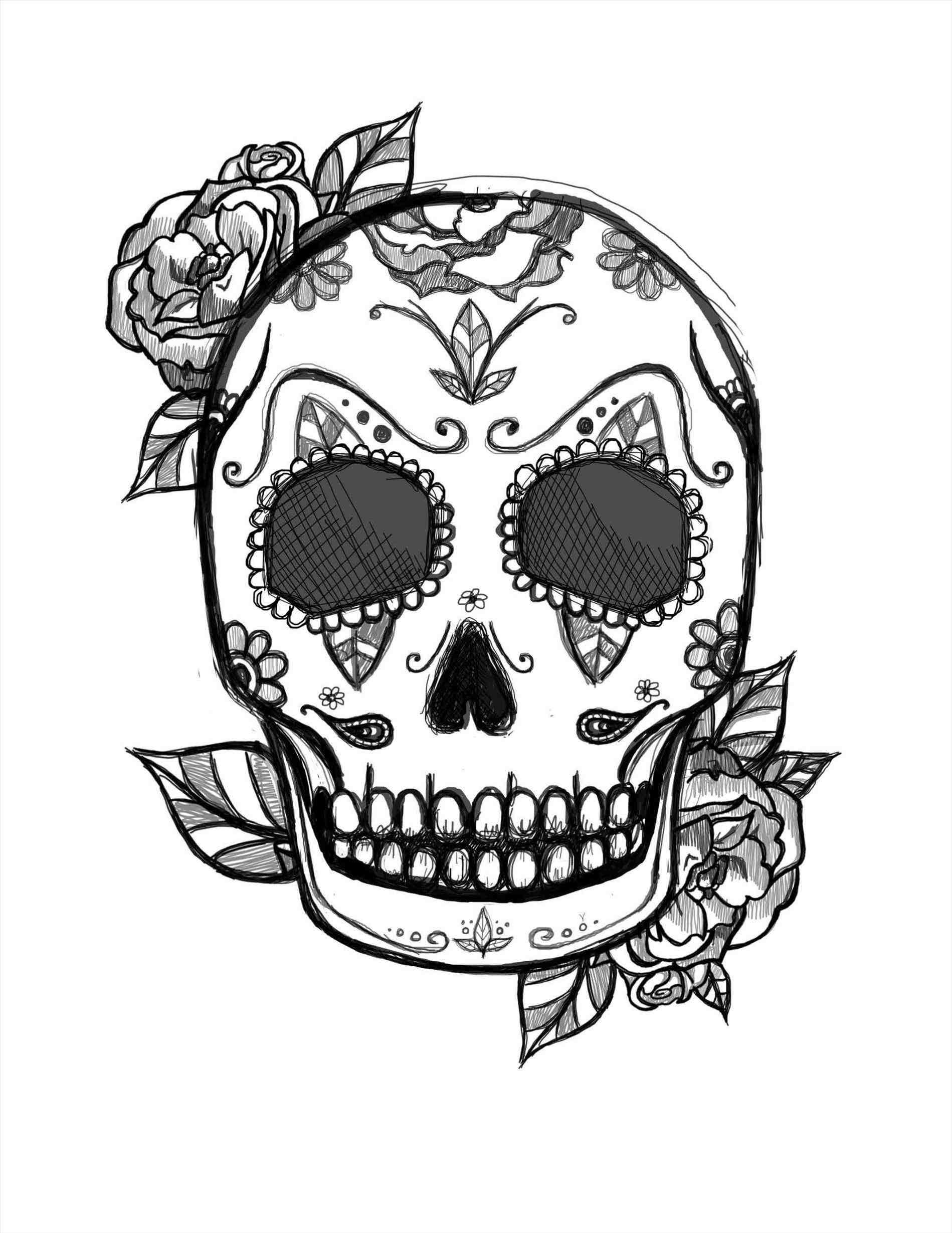 1899x2459 Cool Easy Drawings Of Skulls