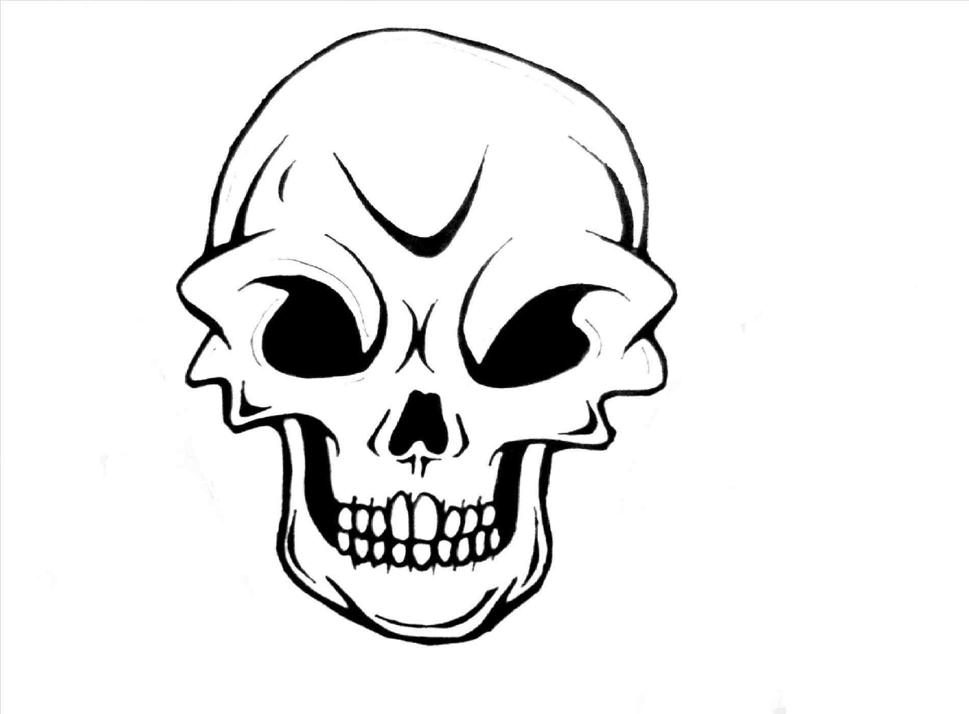 simple skull drawing - HD1900×1401