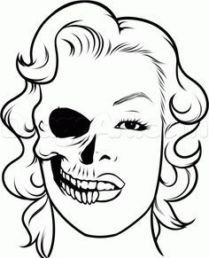236x291 Easy To Draw Skulls How To Draw A Easy Skull Step 8
