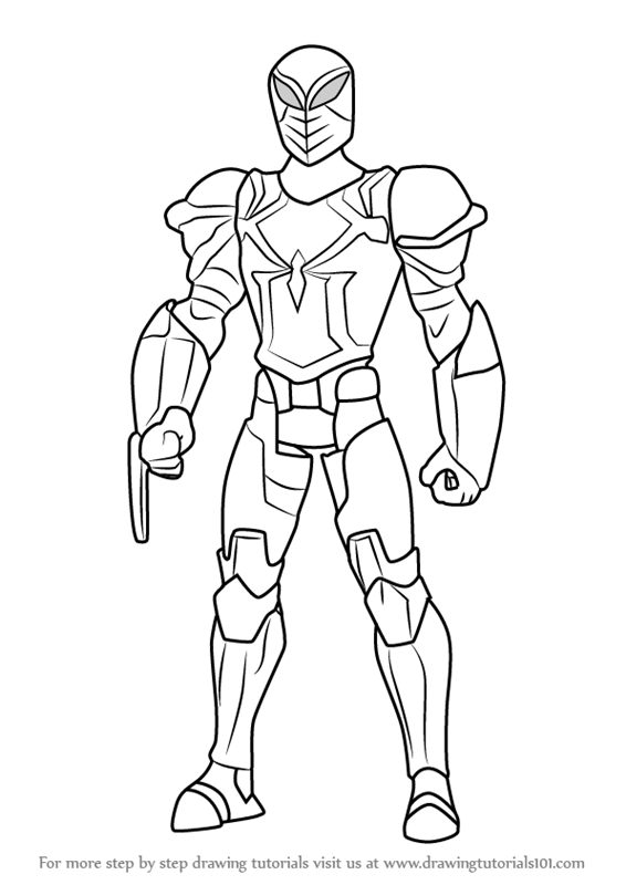 566x800 Learn How To Draw Spyder Knight From Ultimate Spider Man (Ultimate