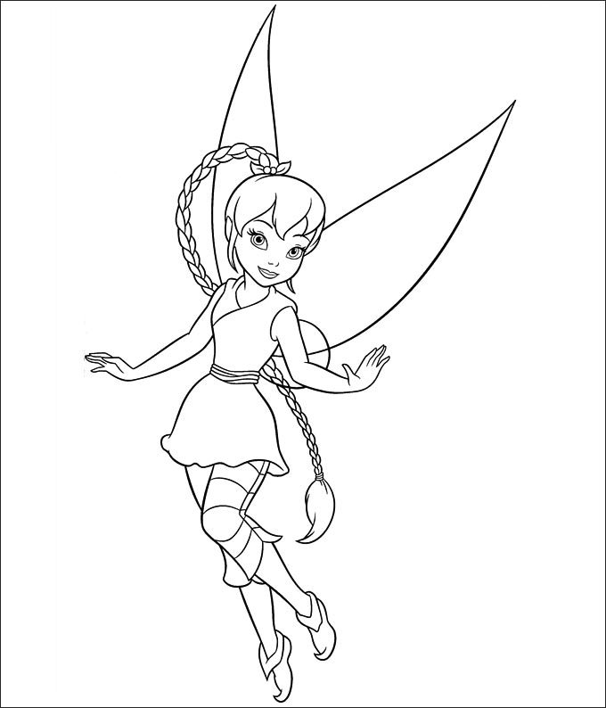 Easy Drawing Of Tinkerbell
