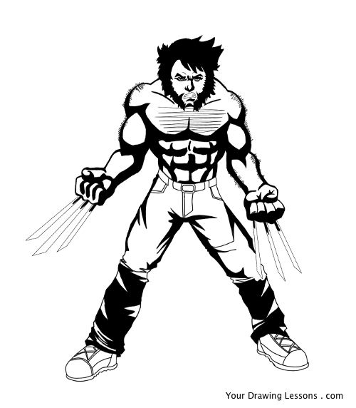 500x572 How To Draw Wolverine Your Drawing Lessons