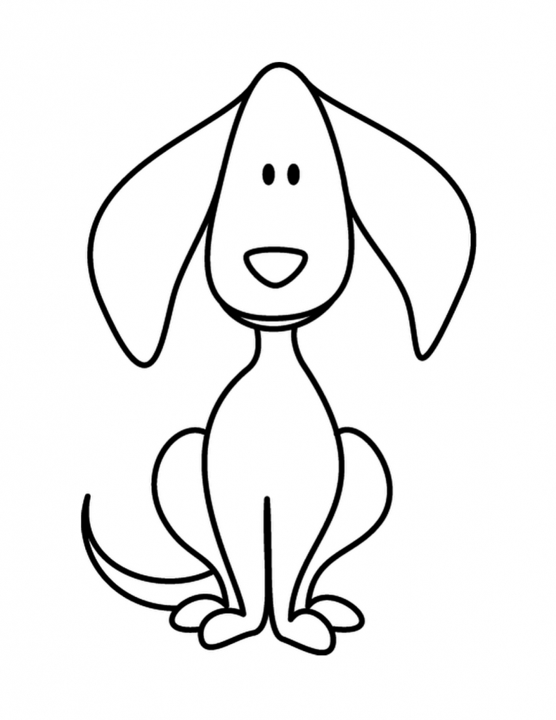 791x1024 Simple Dog Drawings Standing Baby Dog