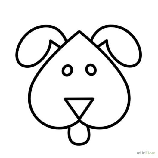 525x525 Easy Dog Drawings To Trace