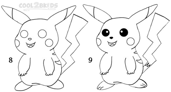 600x326 How To Draw Pikachu (Step By Step Pictures) Cool2bkids