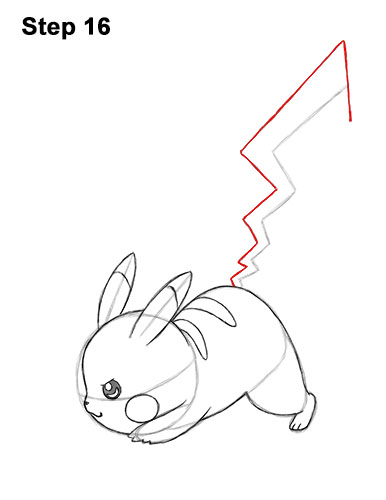 386x500 How To Draw Pikachu (Attack Pose)