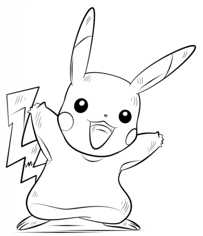 412x480 Pikachu Pokemon Coloring Page Free Printable Coloring Pages