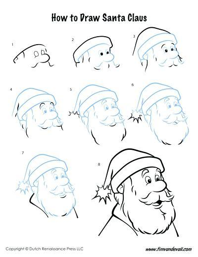 400x518 Santa Claus Drawing Coloured Drawing How To Make Santa Claus