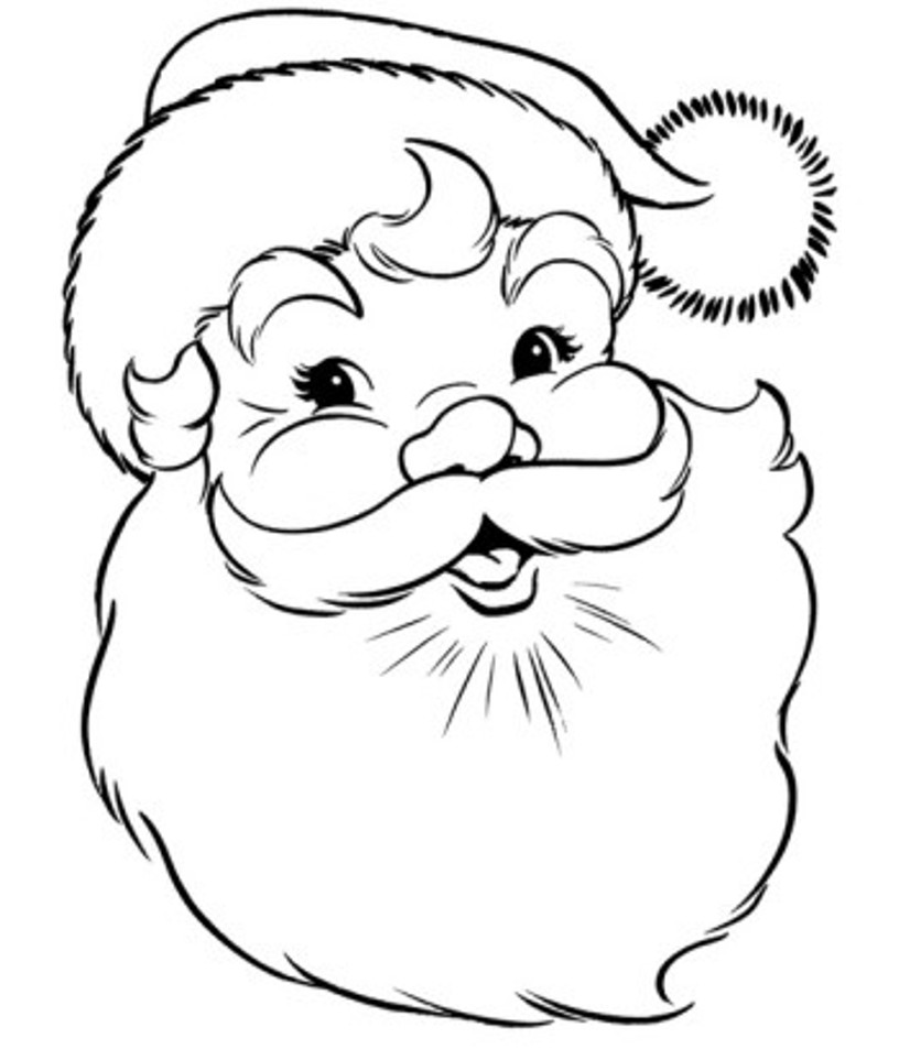 816x953 Santa Claus Drawings For Colouring