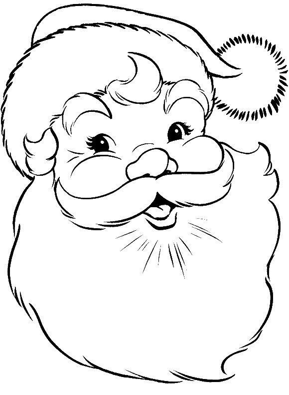 580x791 Santa Claus Face Coloring Pages