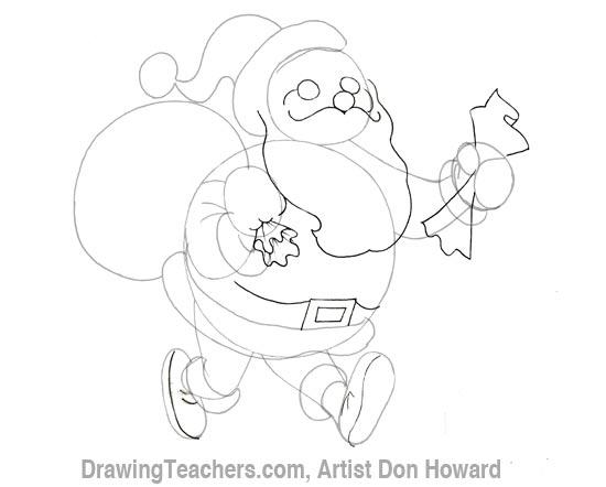 550x442 Cartoon Santa Claus
