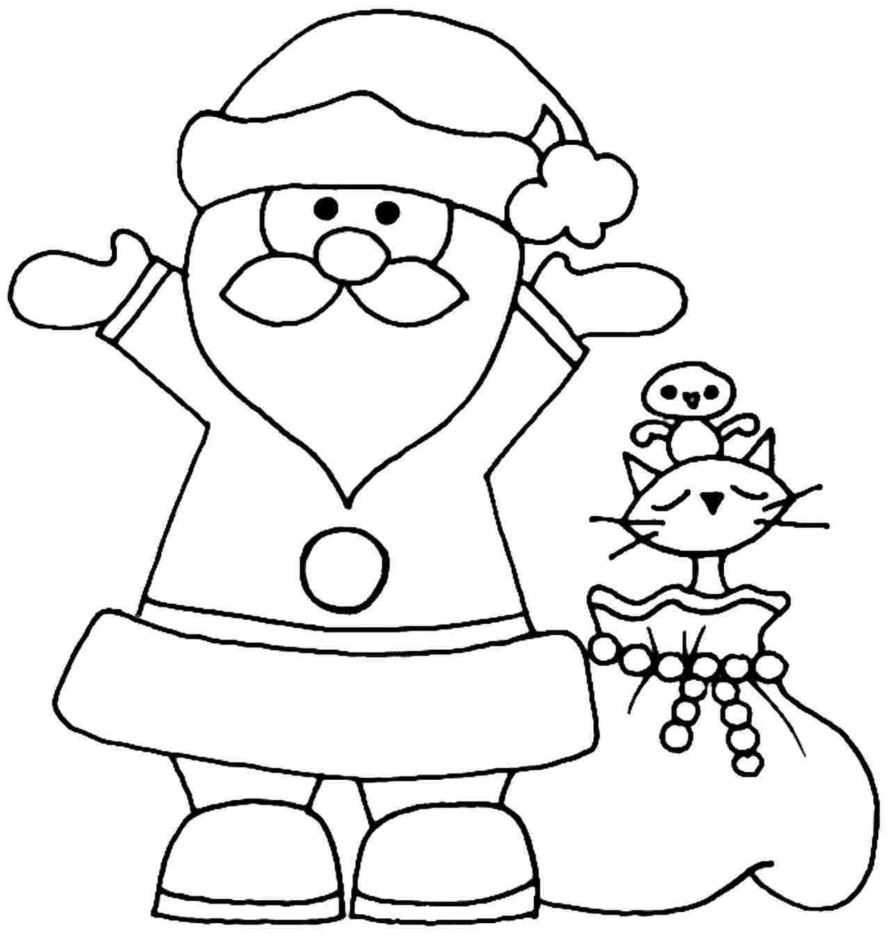 1277x1344 easy santa claus coloring merry christmas amp happy new year arts