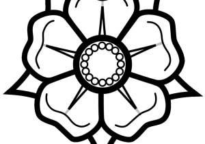 300x210 Easy Drawings Of Flowers Coloring Pages Easy Drawing Of Flower