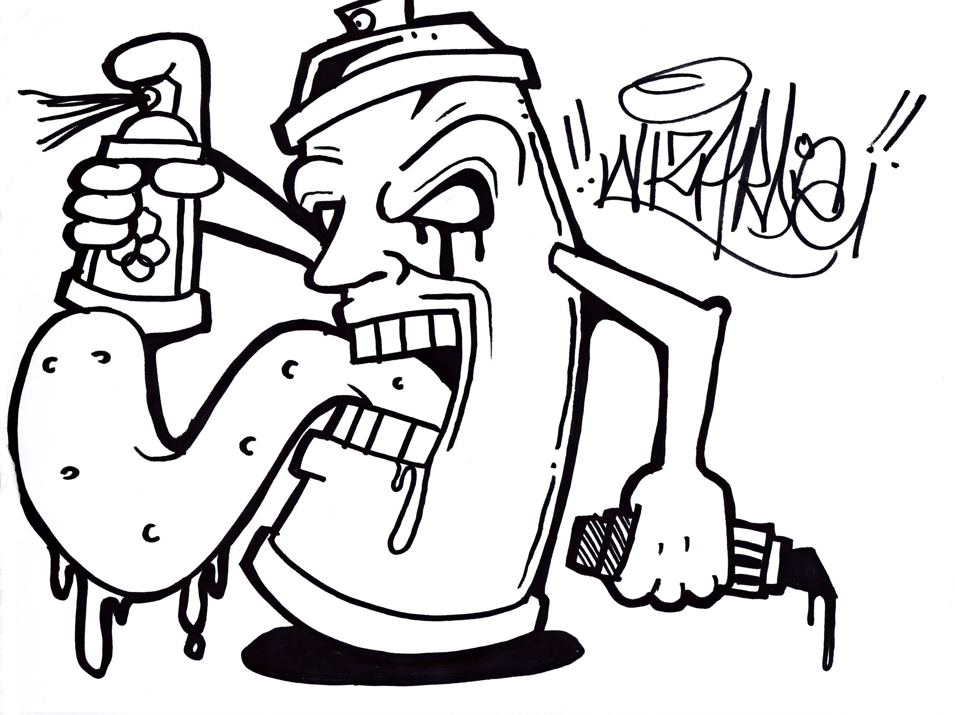 3275x2454 How To Draw A Graffiti Skull Spray Can Graffiti Skull Drawings How