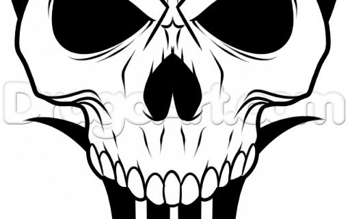 509x320 Simple Skull Drawings Easy Drawings Of Skulls Clipartsco