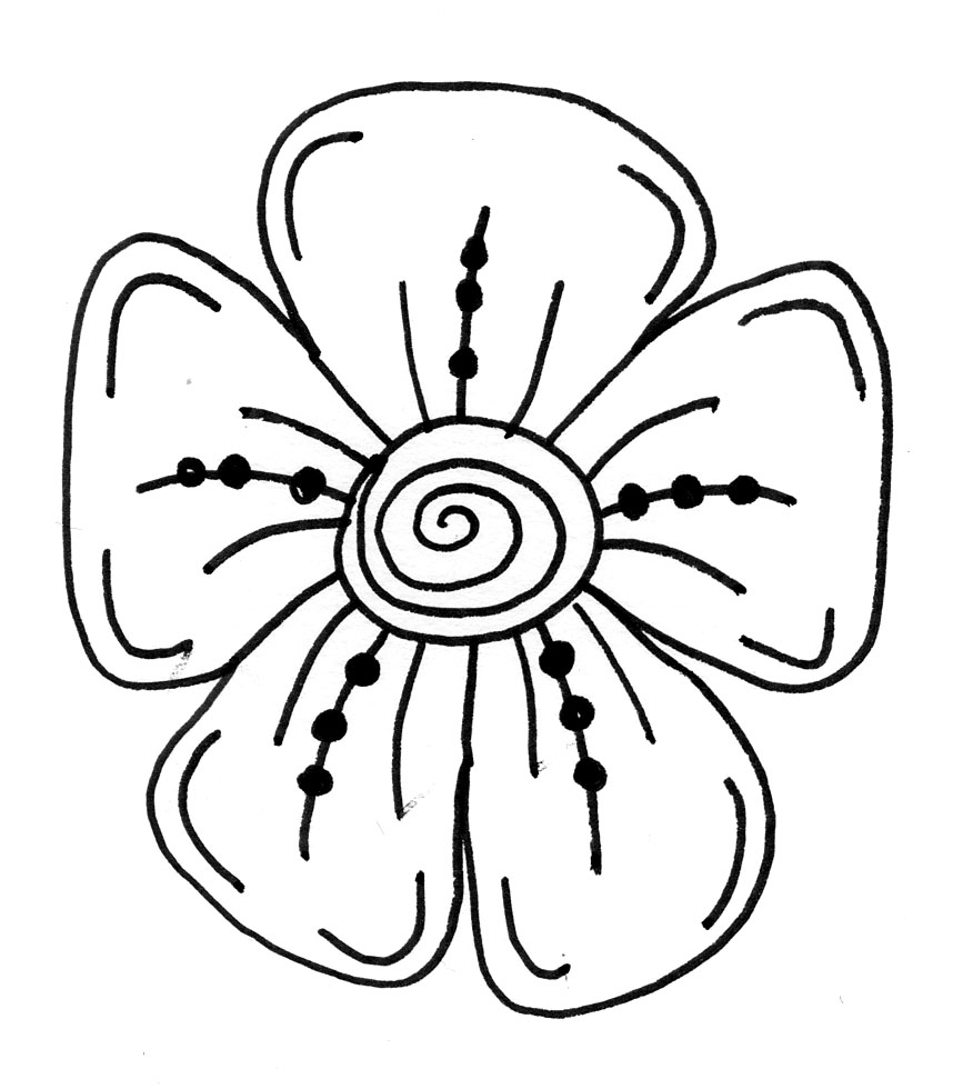 Easy Drawing Step By Step Flowers At Getdrawings Com Free