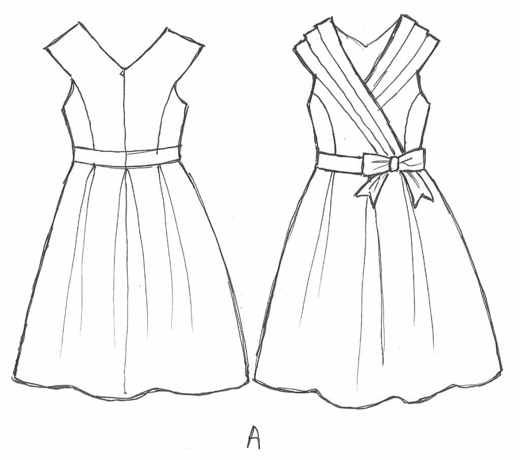 Easy Dress Drawing