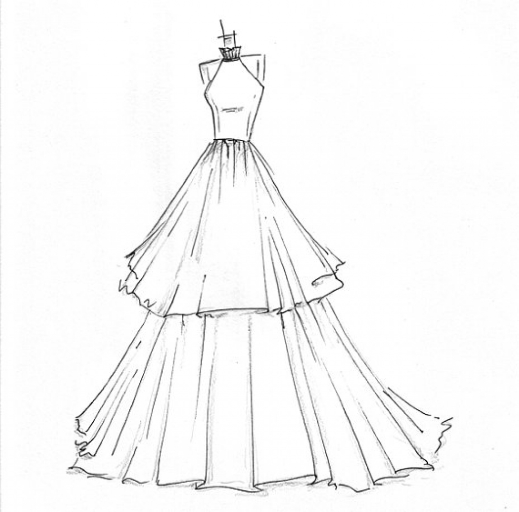 Easy Dress Drawing At GetDrawings.com