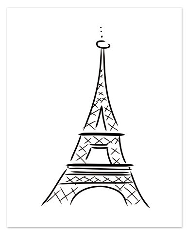 Easy Eiffel Tower Drawing