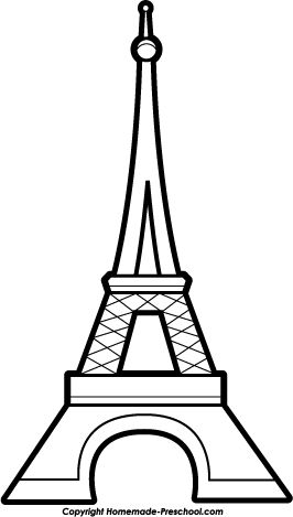266x469 Eiffel Tower Pattern. Use The Printable Outline For Crafts