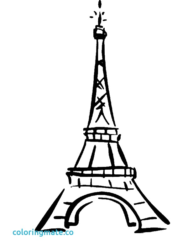 600x800 Eiffel Tower Coloring Pages Unique Eiffel Tower Easy Coloring