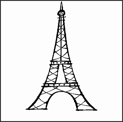 412x408 Cartoon Pictures Of The Eiffel Tower Rn51a Elegant Cartoon Drawing