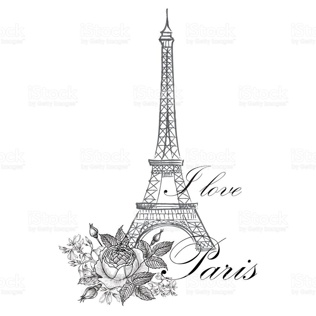 1024x1024 Drawn Eiffel Tower Europe