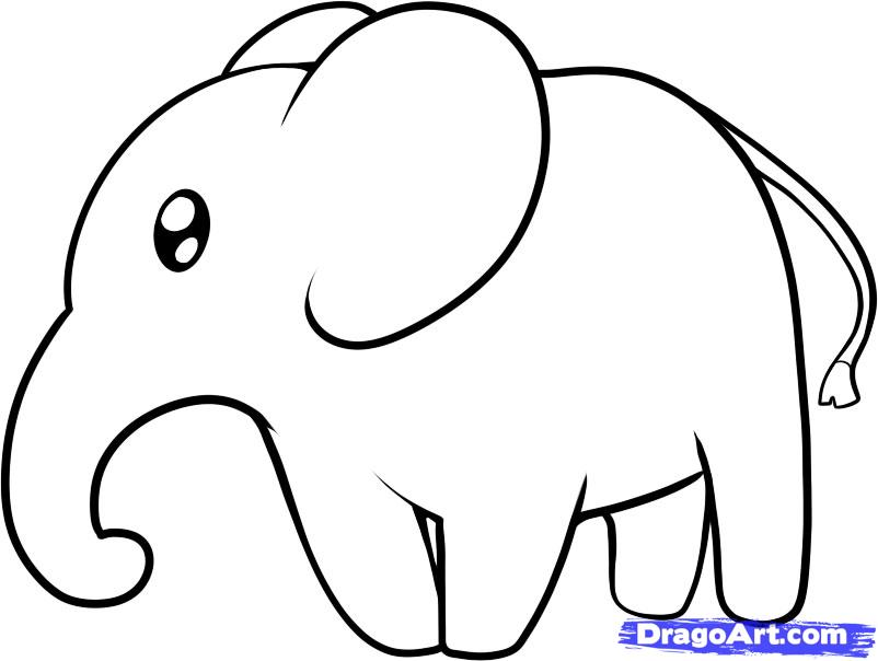 802x604 best photos of easy to draw elephant