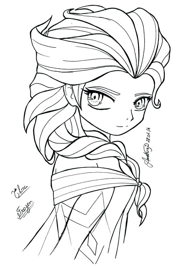618x928 Elsa Coloring Pages Free