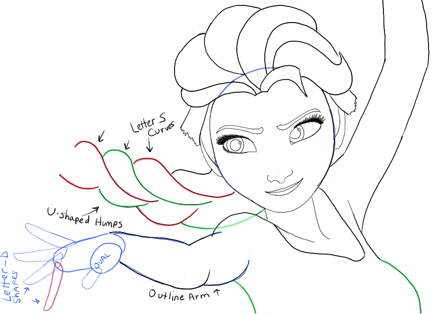881x640 How To Draw Elsa From Frozen With Easy Step By Step Drawing