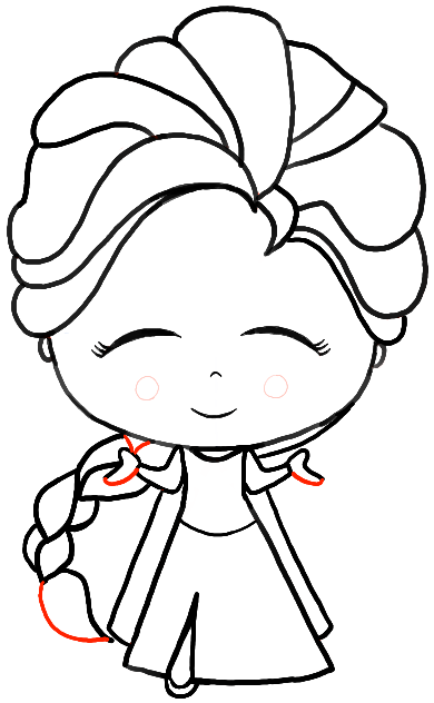 390x632 How To Draw A Chibi Baby Elsa From Frozen With Easy Steps Tutorial