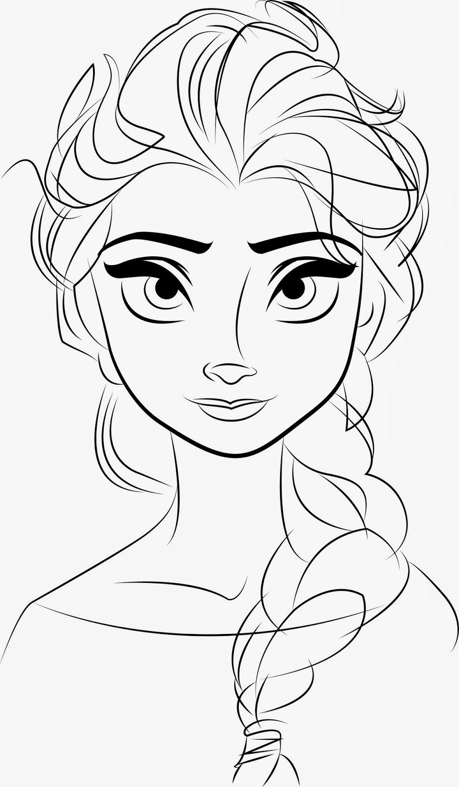 934x1600 Disney Frozen Elsa Line Drawings