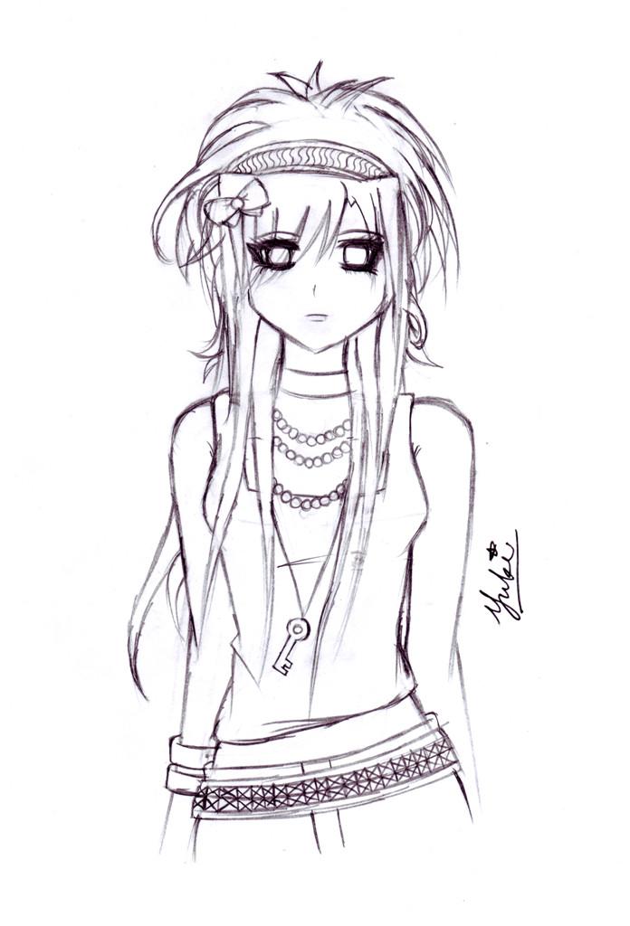 696x1024 Emo Girl Raw By Kyotoyuki