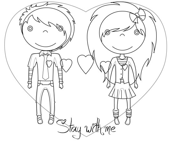 550x450 Follow These Easy Steps To Draw Really Cute Emo Love Cartoons