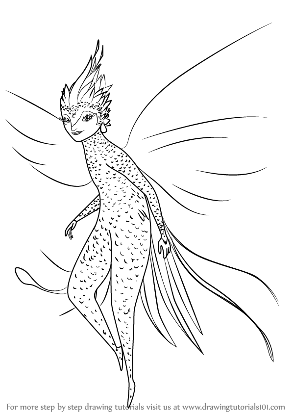 598x844 Learn How To Draw Tooth Fairy From Rise The Guardians (Rise
