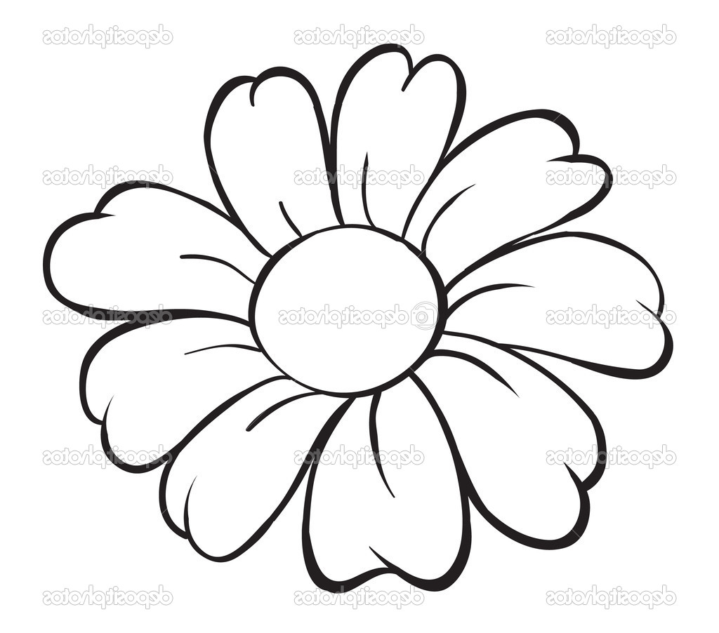 Simple Flower Part - 42: 1024x902 Drawing A Simple Flower Simple Flower Drawing Ideas Draw Easy