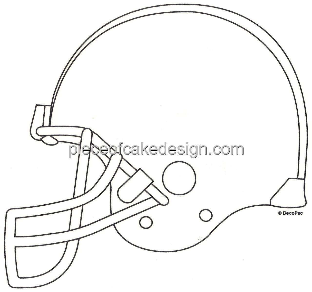 Easy Football Helmet Drawing at GetDrawings.com | Free for ...
