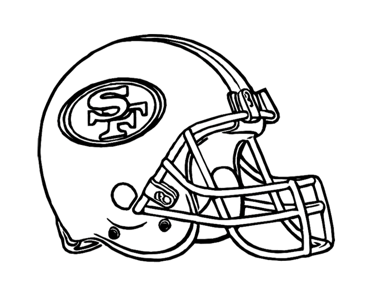 750x580 Football Helmet San Francisco 49ers Coloring Page For Kids