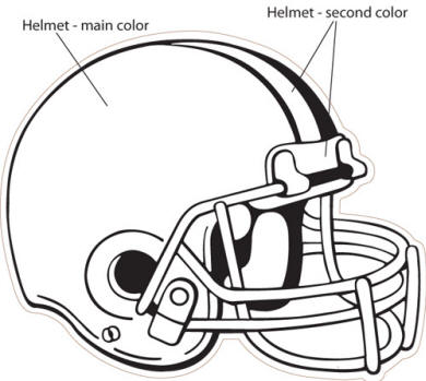 graphic relating to Football Helmet Template Printable called Simple Soccer Helmet Drawing at  Absolutely free for