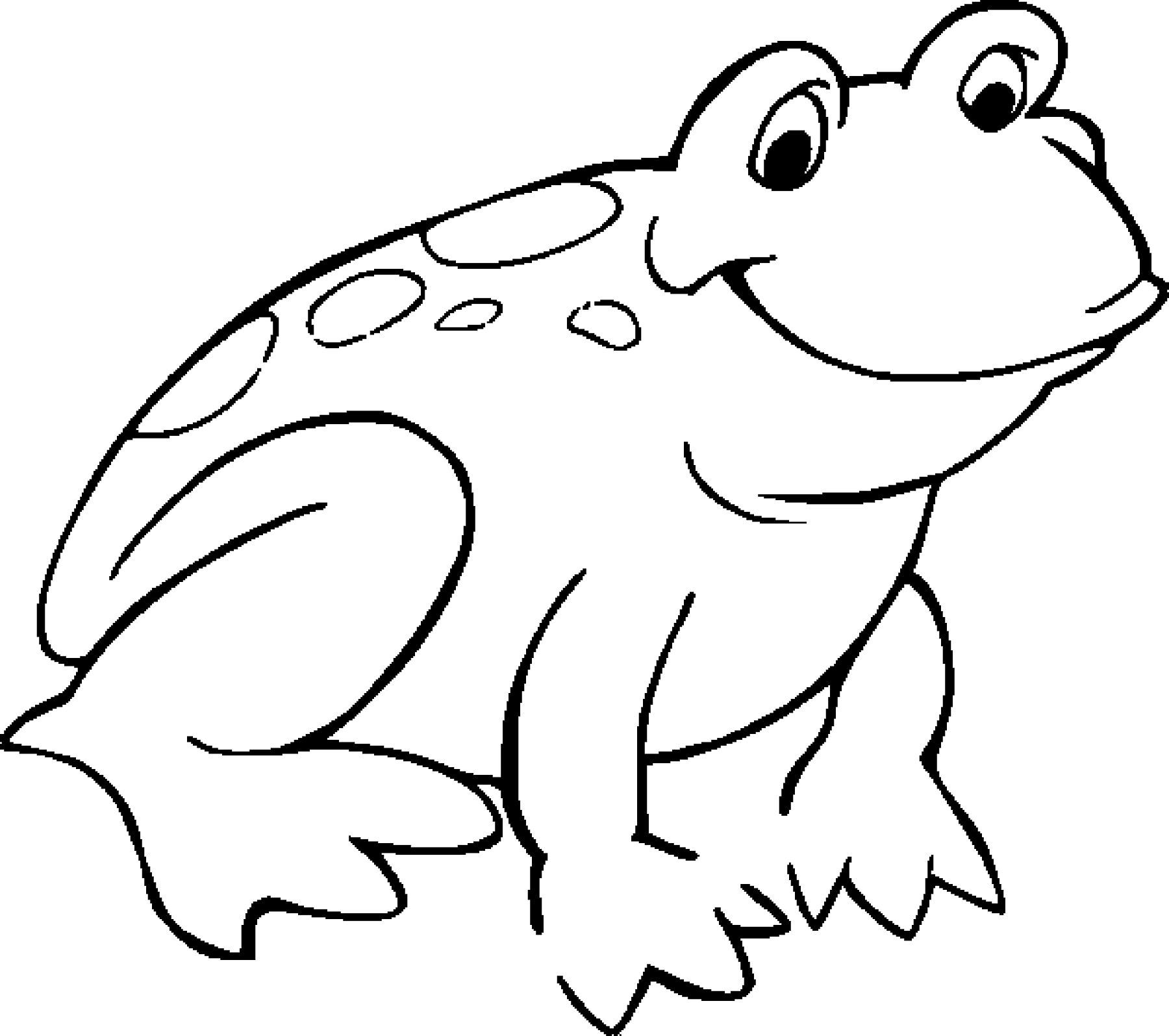 graphic regarding Frog Printable titled Uncomplicated Frog Drawing For Youngsters at  Totally free for