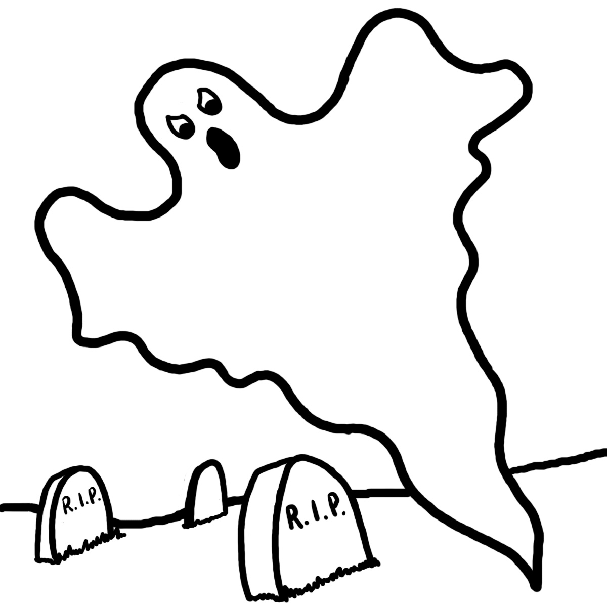 1200x1200 Easy Ghost Clipart