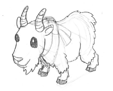 Easy Goat Drawing