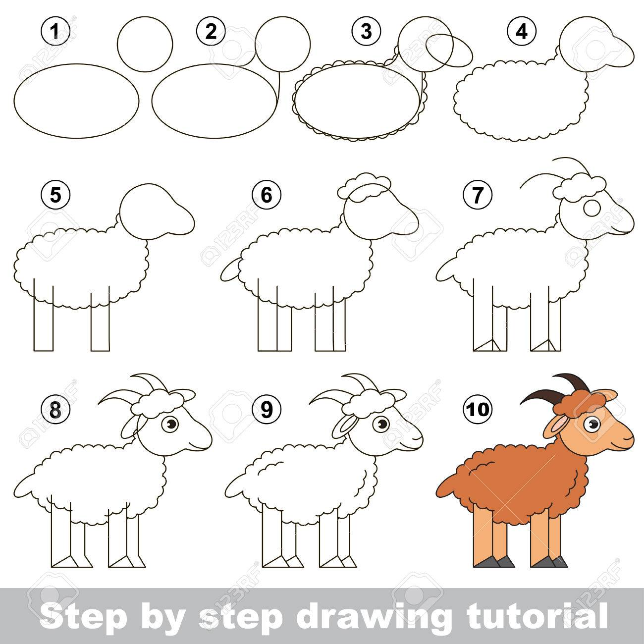 Easy Goat Drawing At Getdrawings Com Free For Personal Use Easy